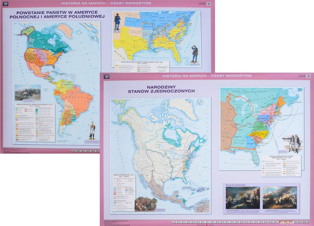 Mapa Stany Zjednoczone Narodziny Wojna Secesyjna Itp