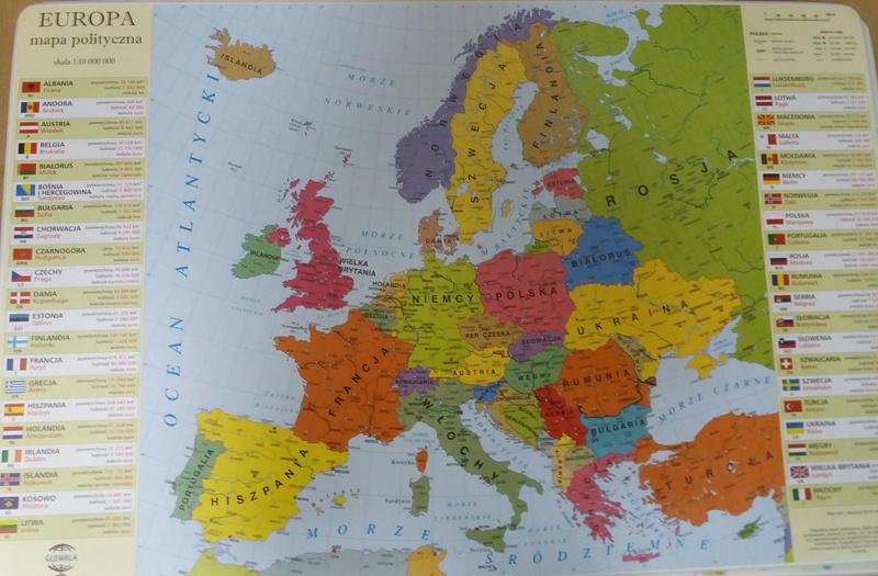Podkladka Mapa Polityczna Europy Geo162