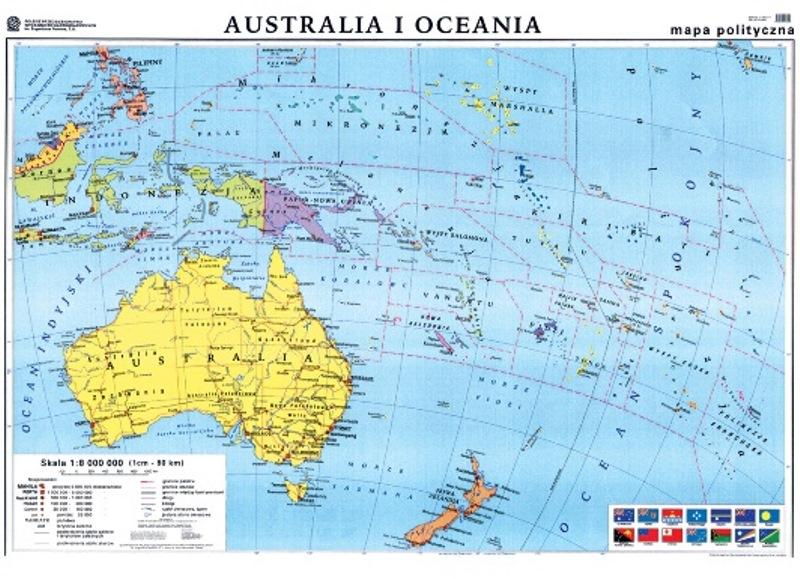Mapa Australia I Oceania Polityczna Gma049