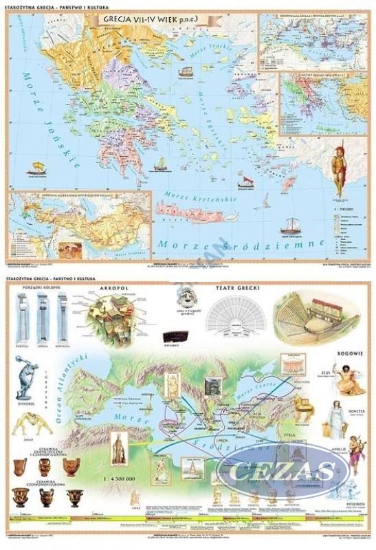 Mapa Duo Starozytna Grecja His207