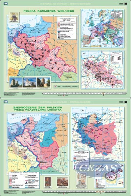 Mapa Zjednoczenie Ziem Przez Wladyslawa Lokietka Polska